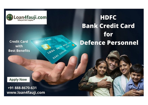 Apply Best HDFC Bank Credit Card for Defence Personnel