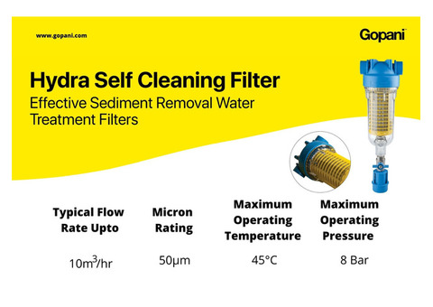 Gopani Introducing HYDRA Cost Saving Reusable Filters with Self Cleaning System