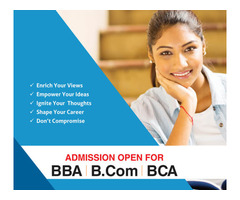 Admission Start For BBA,BCOM,BSC Apply Now
