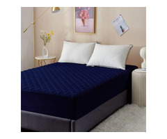 Dream Care Fitted King Size Waterproof Mattress Cover (Blue)