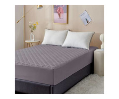 Dream Care Fitted Single Size Waterproof Mattress Cover (Gre...