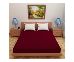 Lithara Waterproof Terry Cotton Fitted Single Bed Mattress P...