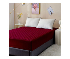 Dream Care Fitted King Size Waterproof Mattress Cover  (Maroon)
