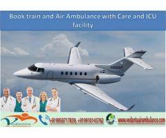 Book train and Air Ambulance in Delhi with Care and ICU faci...