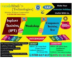 inplant training in coimbatore for biomedical