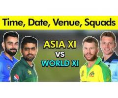 Asia XI vs World XI in Bangladesh,2020
