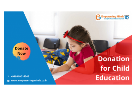 NGO Working for Child Education, Donation for Child Education