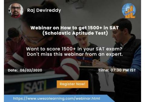 Free Webinar on How to get 1500+ in SAT