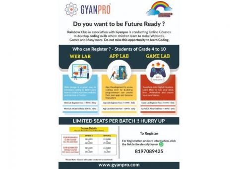 Online learning courses  for kids by GYANPRO