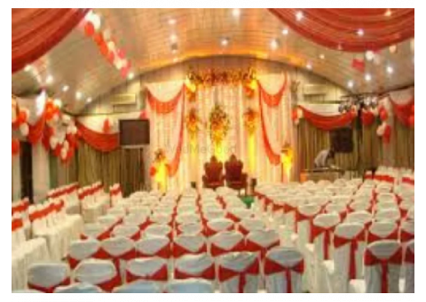 Find wedding banquet venue near the banquet hall, lawn, rooms,pg hostels