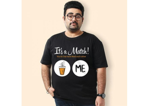 Get Best Quality Of Plus Size Tee For Men