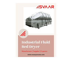 Top Quality Industrial Fluid Bed Dryer Manufacturer in India