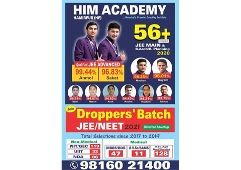 Droppers Batch Classes In Hamirpur