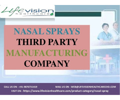 Nasal Spray Third Party Manufacturing Company in India