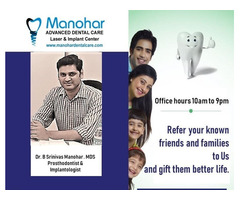 Manohar dental care best dental fluoride clinic in vizag